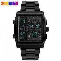 Часы концептуальные Skmei 1274 (5 bar) black @ green, фото 1