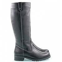 Зимние сапоги женские кожаные на небольшом каблуке, из натуральной кожи, натуральная кожа
