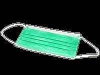 Маска медицинская зеленая 50шт уп.