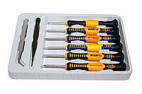Набор инструментов Baku BK-6000-A, 6 отверток, 2 пинцета