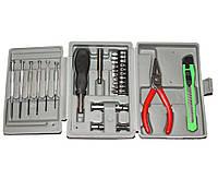 Набор инструментов 24 шт (ручка+10 насадок, утики, нож, головки, отвертки)