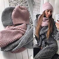 Комплект модный шапка на флисе и бафф разные цвета SHLd79