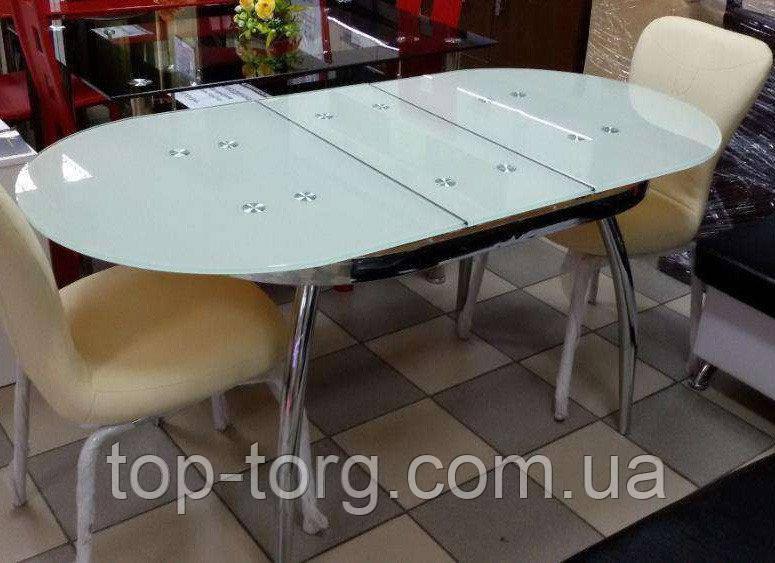 Стол ТВ-042 белый (ультрабелый) овальный