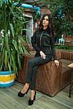 Женский замшевый комбинезон брюки (3 цвета), фото 4