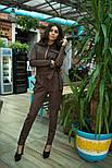 Женский замшевый комбинезон брюки (3 цвета), фото 10