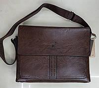 Сумка 1087-3-12D темно-коричневая