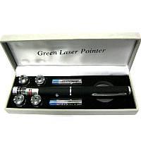Фонарь свет-ный  указка-лазер с насадками (5+1)(Green)