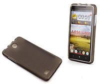 Накладка силиконовая для смартфона Lenovo A656 A766 Dark Transparent f0f97dbc78b