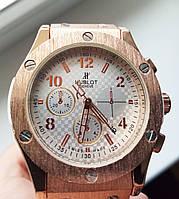 Стильные женские часы Hublot с белым ремешком, Убло, Хаблот