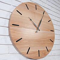 """Настенные часы """"Black Resin Ø60"""" из дерева и черной смолы в стиле еко"""
