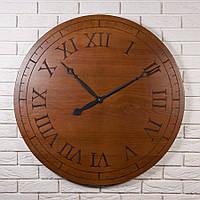 """Большие деревянные настенные часы """"Ancient Rome Ø90"""" из высокогорного ясеня в скандинавском стиле"""