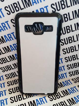 Чехол для 2D сублимации пластиковый на Samsung Galaxy J3 черный, фото 2