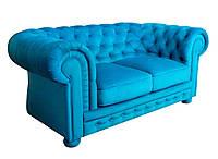 """Раскладной 2х местный кожаный диван в английском стиле """"Chester"""" (Честер). (171 см)"""