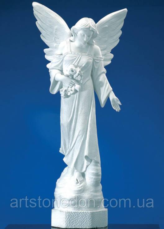 Статуи ангелов на кладбище. Статуя Ангел скорбящий 120 см из полимера  №47