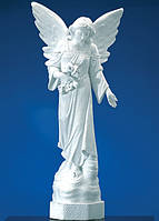 Статуи ангелов на кладбище. Статуя Ангел скорбящий 120 см из полимера  №47, фото 1