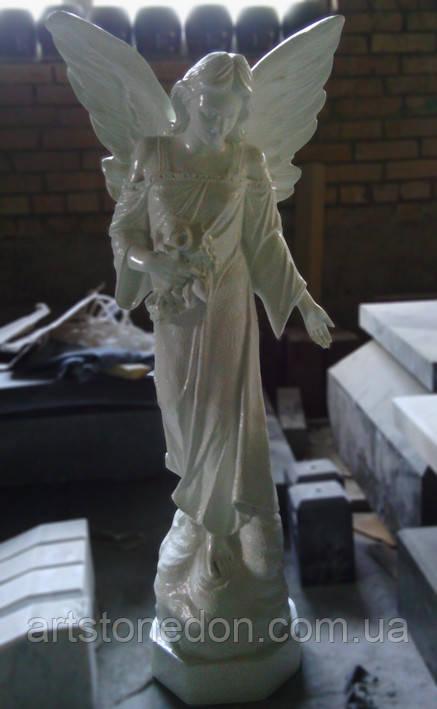 Статуи ангелов на кладбище. Статуя Ангел скорбящий 120 см из мраморополимера Италия №47