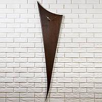 """Большие настенные часы из массива дерева ясень """"Harp"""" в скандинавском стиле"""