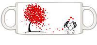 "Чашка белая ""День святого Валентина"""