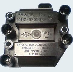 Котушка запалювання ZAZ Sens 1.3 / ЗАЗ Сенс 1,3 550.3705 (3705010) / 042.3705 (3705010)