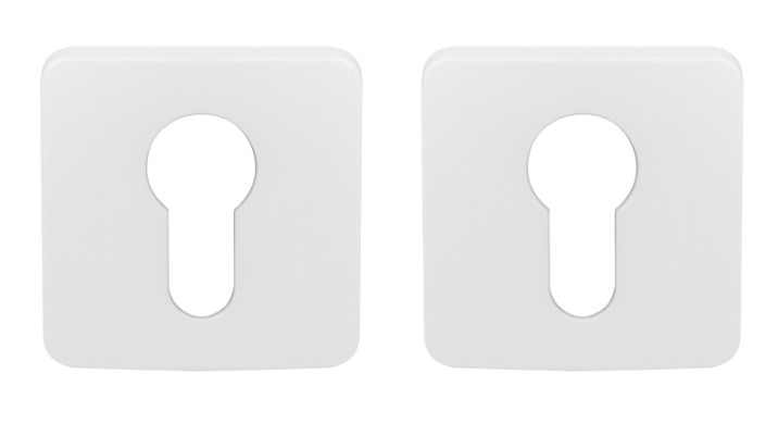 Накладка под цилиндр Colombo PT 13 белая матовая