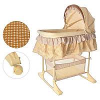 Кроватка-люлька, колыбель для малыша Bambi M 1542