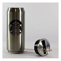 Кружка-банка Starbucks стальная