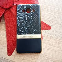 Силиконовый чехол на Samsung J5 2016 J510H REMAX. exclusive serial с золотой окантовкой