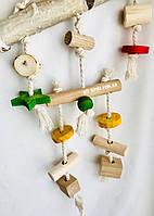 Деревянная игрушка-качеля для попугаев, фото 1