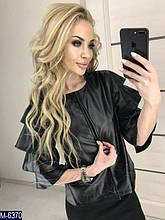 Женский пиджак екокожа