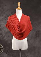 Стильный вязанный женский шарф-хомут снуд