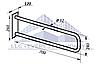 Поручень для инвалидов пристенный неоткидной, Ø 32мм - 700мм, фото 2