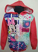 Кофта на молнии для девочки (Минни Маус) 6-10 лет