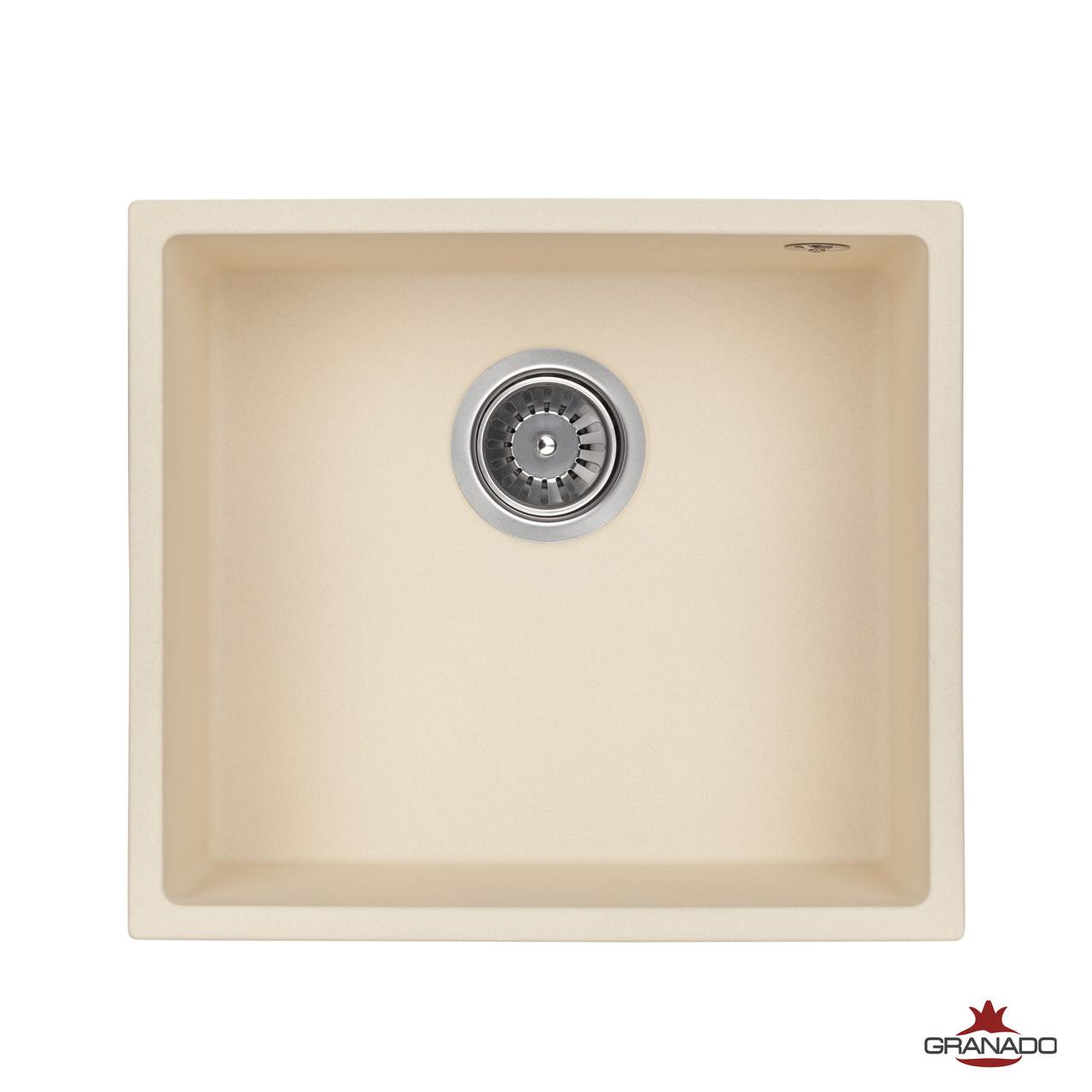 Кухонная мойка из гранита прямоугольной формы от производителя Granado модель Under top цвет Ivory