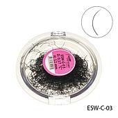 Ресницы поштучно ledy victory ESW-C-03 (диаметр: 0,17 мм. длина: 12 мм.)