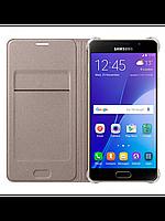 Чехол Samsung Flip Wallet для Samsung Galaxy A310 золотой, фото 1