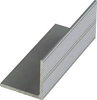 Уголок алюминиевый равнополочный 40х40х3.5 мм декоративный серебро