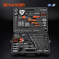 """Универсальный набор инструментов 1/2"""", 3/8"""", 1/4"""", 122 пр. Harden Tools 510822"""