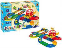 Железная дорога игровой набор с вокзалом, паркингом, автодорогой Kid Cars 3D Wader, фото 1
