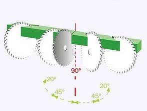 Порезка алюминиевого профиля большого сечения под углом 90°, фото 2