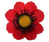 """Искусственные цветочные головки """"Мак красный"""" 100 шт. в упаковке, (диаметр 70 мм)"""