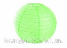 Подвесной бумажный шар плиссе 30 см салатовый