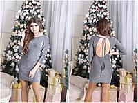 Платье люрекс с открытой спиной, оригинальное коктейльное платье. Размеры норма, разные цвета., фото 1