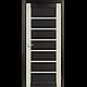 Двери межкомнатные  Корфад PORTO COMBI COLORE Модель: PC-02 дуб беленый/венге c матовым стеклом, фото 2