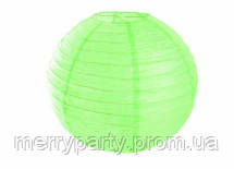 Подвесной бумажный шар  45 см светло-зеленый плиссе