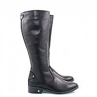 Зимние сапоги женские кожаные на каблуке, из натуральной кожи, натуральная кожа