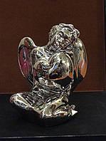 Статуэтка Ангел с сердцем в руках серебро
