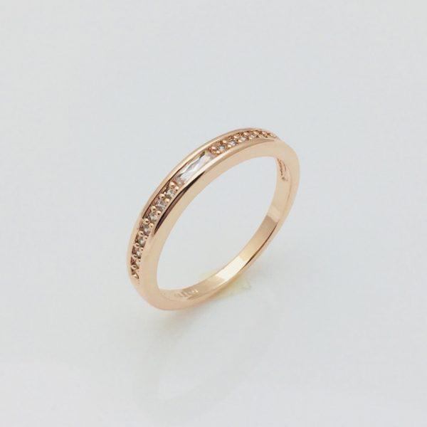 Кольцо Дорожка камни в ряд, размер 19, 20  18К Fallon