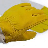 Перчатки защитные кожаные для пчеловода с нарукавниками.