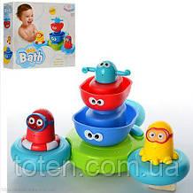 Игрушка для ванной Водопад CS007 для купания, кораблики-пирамидка на подставке