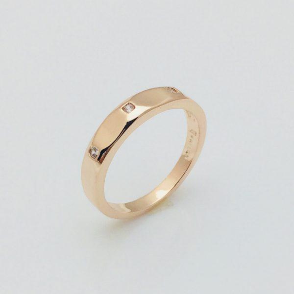 Кольцо Три камня, размер 17, 18, 19, 20  18К Fallon